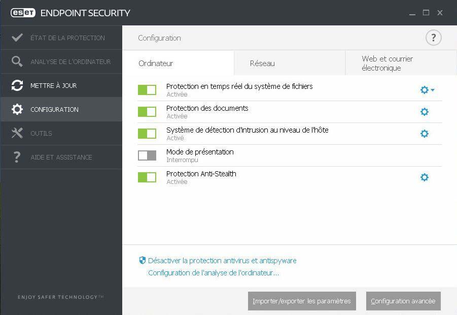 ACCUEIL ESET NOD32 Antivirus Edition 2014