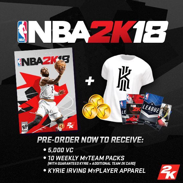 NBA 2K18 Preorder offer