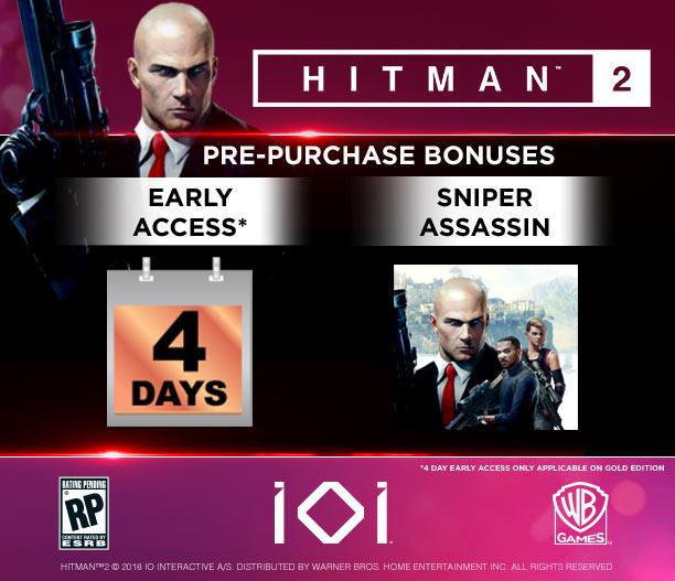 Hitman2 pre-order